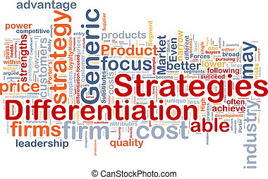 Differentiation, estrategias, Plano de fondo, concepto