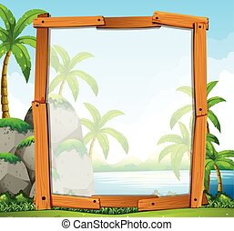 Frame design with river view