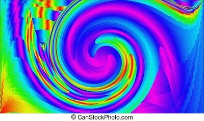 Rainbow psycho pattern - Animation of illustration Rainbow...