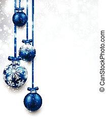 Christmas background. - Christmas background with blue...