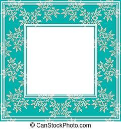 floral blue border