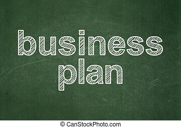 Business concept: Business Plan on chalkboard background