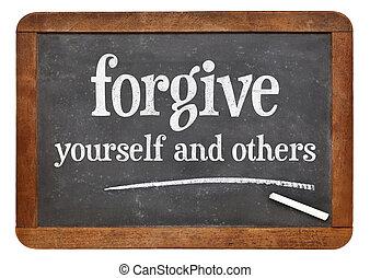 perdoar, você mesmo, e, outros,