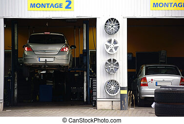 Auto Repair Shop - An auto repair shop with two garages and...