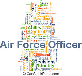 Air force officer background concept - Background concept...