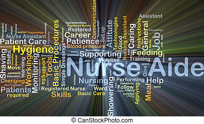 Nurse aide background concept glowing - Background concept...