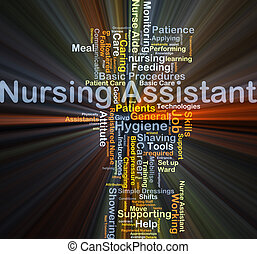 Nursing assistant background concept glowing - Background...