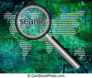 search - Many abstract images on the theme of computers,...