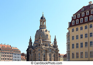 Church Dresden Frauenkirche at Neumarkt, Germany