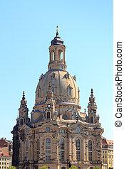 Church Dresden Frauenkirche at Neumarkt, Germany