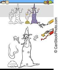 educational task for preschooler - Cartoon Illustration of...