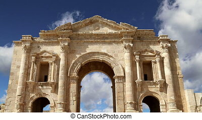 Arch of Hadrian in Gerasa, Jordan - Arch of Hadrian in...