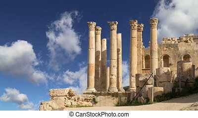 Temple of Zeus, Jerash,Jordan - Temple of Zeus, Jordanian...