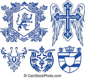 vintage heraldic royal element