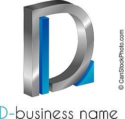 Letter logo D