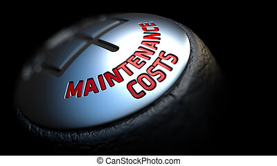 Maintenance Costs on Gear Shift with Red Text.
