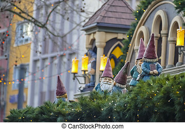 Christmas time Outdoor decoration - Christmas in Europe,...