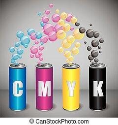 CMYK bubbles