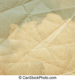 Sky clouds on a textured, vintage paper background