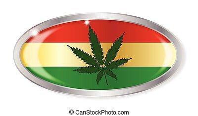 ovaal, vlag,  rastafarian, knoop