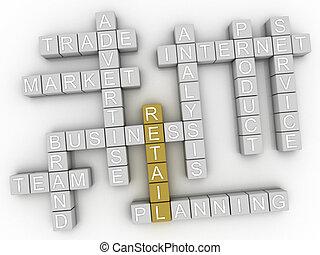 3d image Retail word cloud concept
