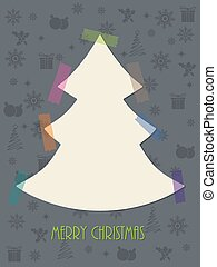 Christmas greeting card with color tapes - Christmas...