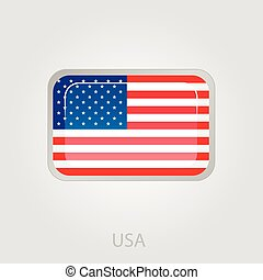 United States of America flag button