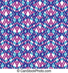 Geometric messy lined seamless pattern, colorful vector...
