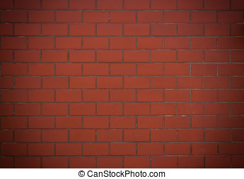 Red brick wall - Red brick wall, For texture and background...