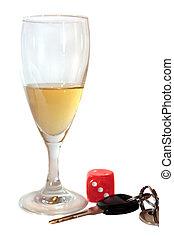 llaves, coche, champaña, dados