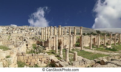 Jordanian city of Jerash - Roman ruins in the Jordanian city...