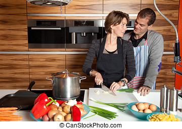 2UTE, 夫婦, 廚房