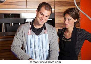 夫婦, 廚房