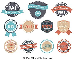 Design labels with the quality mark