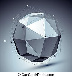 Modern digital technology style, abstract background with...