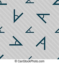 Angle 45 degrees icon sign Seamless pattern with geometric...