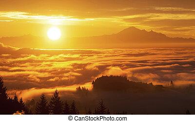 sunrise and Mt. Baker