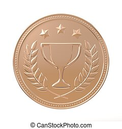 Bronze Medal - Bronze medal with laurels, stars and cup...