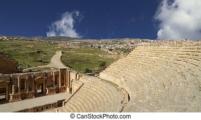 Amphitheater in Jerash, Jordan - Amphitheater in Jerash...