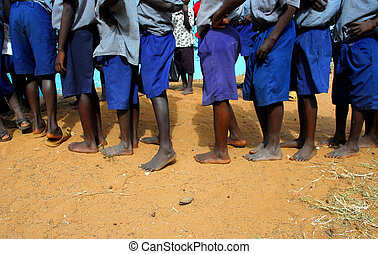 africa - African children without shoes