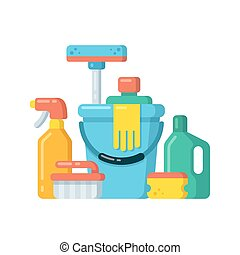 Cleaning supplies Illustrations and Clipart. 7,593 Cleaning ...