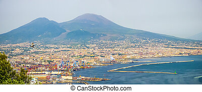 Aerial view of Naples, Campania, Italy - Scenic...