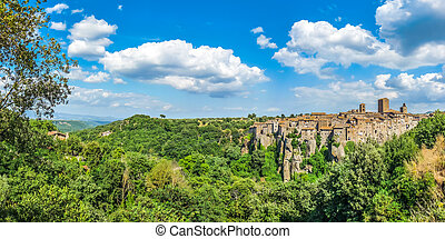 Medieval town of Vitorchiano in Lazio, Italy - Beautiful...