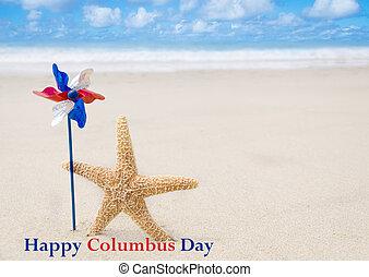 哥倫布,  Starfishes, 天, 背景