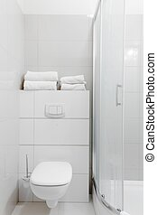 Simply furnished bathroom - Photo of simply furnished white...