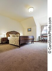 Double bed in spacious suit