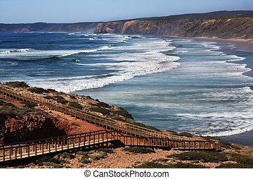 Carrapateira Beach - Wide view of the Carrapateira coastline...