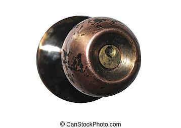 Old Door Handle - The old metal, dirty and broken door...