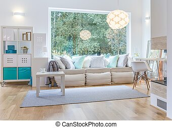 Spacious living room - Spacious bright living room with big...