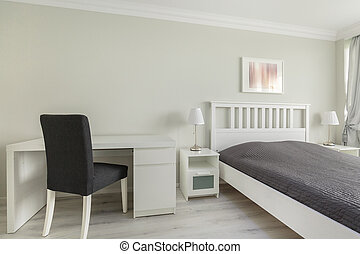 Mainstream bedroom of teenage boy - Horizontal picture of a...